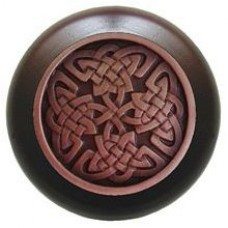 Celtic Isles/Dark Walnut Cabinet Knob - Antique Copper (NHW-757W-AC) by Notting Hill