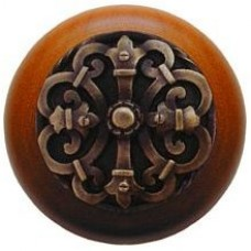 Chateau/Cherry Cabinet Knob - Antique Brass (NHW-776C-AB) by Notting Hill