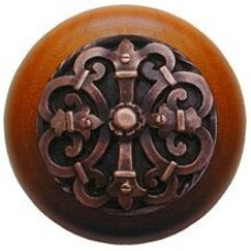 Chateau/Cherry Cabinet Knob - Antique Copper (NHW-776C-AC) by Notting Hill