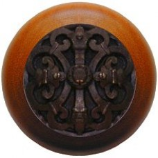 Chateau/Cherry Cabinet Knob - Dark Brass (NHW-776C-DB) by Notting Hill