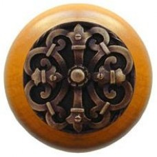 Chateau/Maple Cabinet Knob - Antique Brass (NHW-776M-AB) by Notting Hill