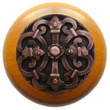 Chateau/Maple Cabinet Knob - Antique Copper (NHW-776M-AC) by Notting Hill