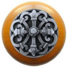 Chateau/Maple Cabinet Knob - Antique Pewter (NHW-776M-AP) by Notting Hill