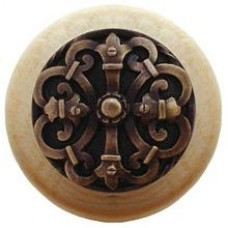 Chateau/Natural Cabinet Knob - Antique Brass (NHW-776N-AB) by Notting Hill