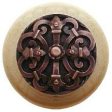 Chateau/Natural Cabinet Knob - Antique Copper (NHW-776N-AC) by Notting Hill