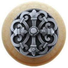Chateau/Natural Cabinet Knob - Antique Pewter (NHW-776N-AP) by Notting Hill