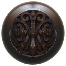 Chateau/Dark Walnut Cabinet Knob - Dark Brass (NHW-776W-DB) by Notting Hill
