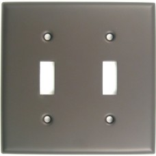 Traditional Double Toggle Switch Plate (785ORB) Oil Rubbed Bronze by Rusticware
