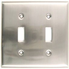 Traditional Double Toggle Switch Plate (785SN) Satin Nickel by Rusticware