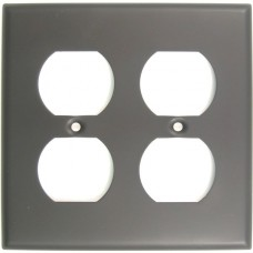 Traditional Double Outlet Switch Plate (786ORB) Oil Rubbed Bronze by Rusticware