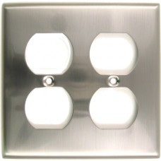 Traditional Double Outlet Switch Plate (786SN) Satin Nickel by Rusticware
