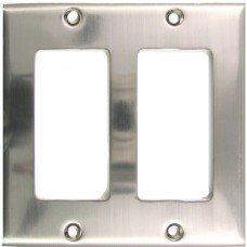 Traditional Double Decora Switch Plate (787SN) Satin Nickel by Rusticware