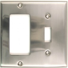 Traditional Double Decora/Toggle Switch Plate (788SN) Satin Nickel by Rusticware