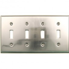 Traditional Quad Toggle Switch Plate (790SN) Satin Nickel by Rusticware