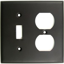 Traditional Double Toggle & Outlet Switch Plate (791ORB) Oil Rubbed Bronze by Rusticware
