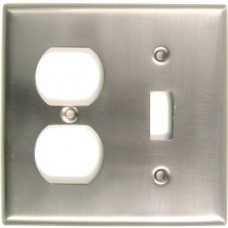 Traditional Double Toggle & Outlet Switch Plate (791SN) Satin Nickel by Rusticware