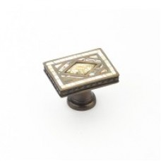 Avalon Bay Cabinet Knob (659-YP/AD) in Aged Dover of the Schaub & Company Symphony Series