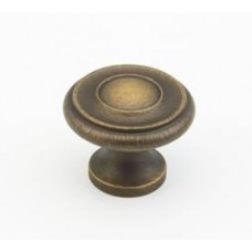 Colonial Cabinet Knob (704-ALB) in Antique Light Brass of the Schaub & Company Signature Series