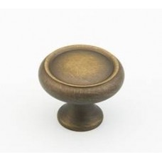 Country Cabinet Knob (711-ALB) in Antique Light Brass of the Schaub & Company Signature Series