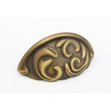 Arcadia Bin Pull (834-ALB) in Antique Light Brass of the Schaub & Company Signature Series