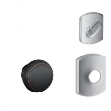 Andover Knob w/ Greenwich Rosette Tubular Entry Set Interior Trim Kit - F Series (F59AND) by Schlage