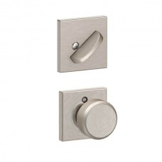 Bowery Knob w/ Collins Rosette Tubular Entry Set Interior Trim Kit - F Series (F59BWE) by Schlage