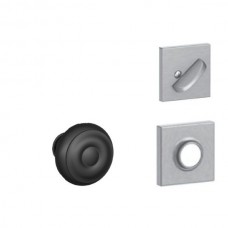Georgian Knob w/ Collins Rosette Tubular Entry Set Interior Trim Kit - F Series (F59GEO) by Schlage