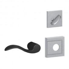 Accent Lever w/ Upland Rosette Tubular Entry Set Interior Trim Kit - F Series (F59ACC) by Schlage