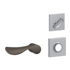 Champagne Lever w/ Collins Rosette Tubular Entry Set Interior Trim Kit - F Series (F59CHP) by Schlage