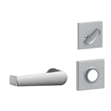 Elan Lever w/ Collins Rosette Tubular Entry Set Interior Trim Kit - F Series (F59ELA) by Schlage