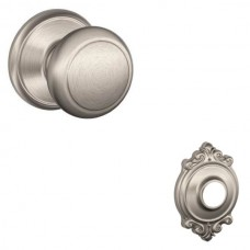 Andover Door Knob Set w/ Brookshire Rosette - F Series (AND) by Schlage