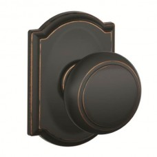 Andover Door Knob Set w/ Camelot Rosette - F Series (AND) by Schlage