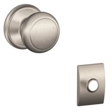Andover Door Knob Set w/ Century Rosette - F Series (AND) by Schlage