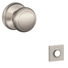 Andover Door Knob Set w/ Collins Rosette - F Series (AND) by Schlage
