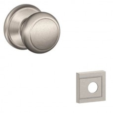 Andover Door Knob Set w/ Upland Rosette - F Series (AND) by Schlage