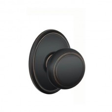 Andover Door Knob Set w/ Wakefield Rosette - F Series (AND) by Schlage