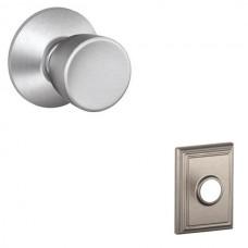 Bell Door Knob Set w/ Addison Rosette - F Series (BEL) by Schlage
