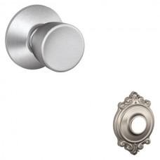 Bell Door Knob Set w/ Brookshire Rosette - F Series (BEL) by Schlage