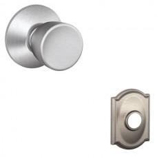 Bell Door Knob Set w/ Camelot Rosette - F Series (BEL) by Schlage