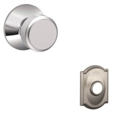 Bowery Door Knob Set w/ Camelot Rosette - F Series (BWE) by Schlage