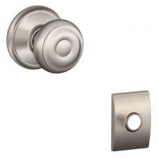 Georgian Door Knob Set w/ Century Rosette - F Series (GEO) by Schlage