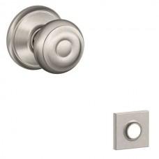 Georgian Door Knob Set w/ Collins Rosette - F Series (GEO) by Schlage