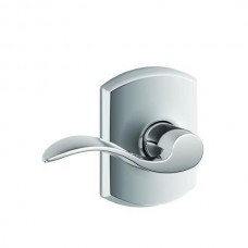 Accent Door Lever Set w/ Greenwich Rosette - F Series (ACC) by Schlage
