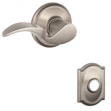Avanti Door Lever Set w/ Camelot Rosette - F Series (AVA) by Schlage