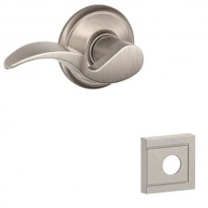 Avanti Door Lever Set w/ Upland Rosette - F Series (AVA) by Schlage