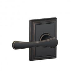 Avila Door Lever Set w/ Addison Rosette - F Series (VLA) by Schlage