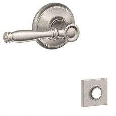 Birmingham Door Lever Set w/ Collins Rosette - F Series (BIR) by Schlage