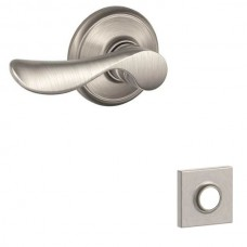 Champagne Door Lever Set w/ Collins Rosette - F Series (CHP) by Schlage