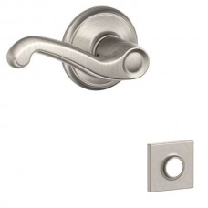 Flair Door Lever Set w/ Collins Rosette - F Series (FLA) by Schlage