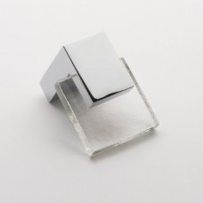 "Affinity Clear 1.25"" Square Glass Cabinet Knob (K-1200) by Sietto"